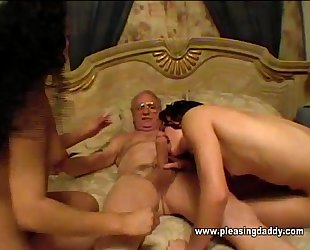 Two hot hoes and a mature pervert
