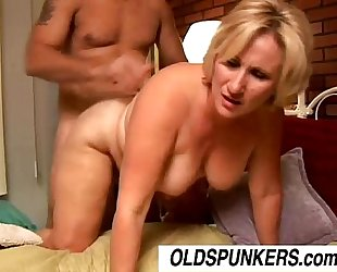 Beautiful aged blond molly gives a sloppy rimjob