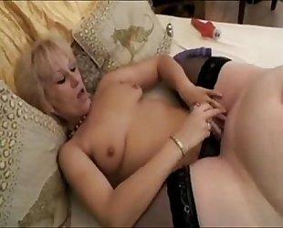 Lesbian fat matures thong on