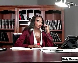 Oily office with diamond jackson from impure masseur-part01