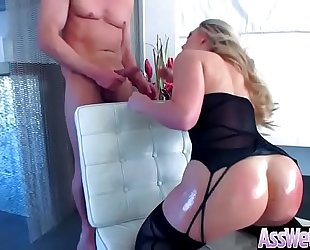 Big a-hole slutty wife (aj applegate) receive oiled and have a fun anal hardcore sex video-03