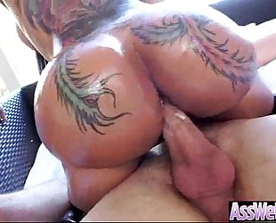 Anal hard sex with large oiled soaked round booty housewife (bella bellz) video-10