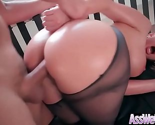 (brooklyn chase) bitch cheating wife with large oiled ass receive hard anal sex movie-12