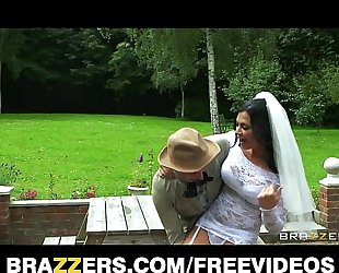Busty brunette hair bride jasmine jae bonks the brother of the groom
