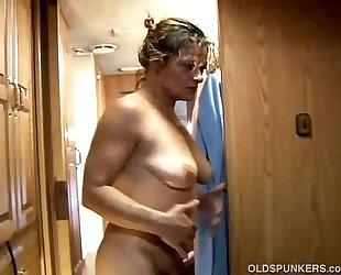 Slutty aged dilettante ivee enjoys a hard fucking