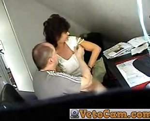 Mature drilled in the office - hidden web camera