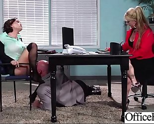 Hot hotwife (krissy lynn) large wobblers group-fucked hardcore in office vid-22