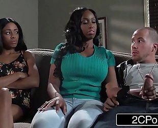 Big tit swarthy milf codi bryant attempts to steal youthful anya ivy's boyfriend