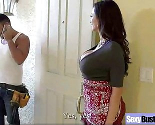 Sexy fascinating cheating wife (ariella ferrera) with large melon melons like sex vid-04