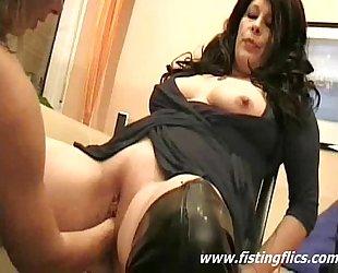 Double fisting experienced harlots vagina