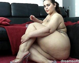 German bbw pawg samantha is teasing during the time that this babe is smokin' a cigarette