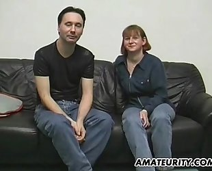 Amateur pair doing it for a casting