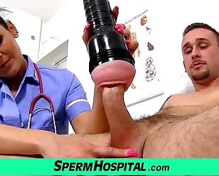 Mom with chap handjob at hospital feat uniform milf nora