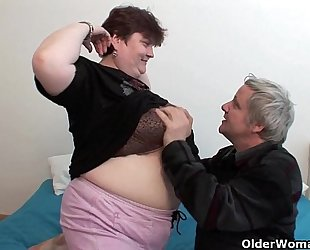 Bbw grandma still enjoys grandpa's petite rod