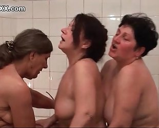 Mature lesbos go eager making out