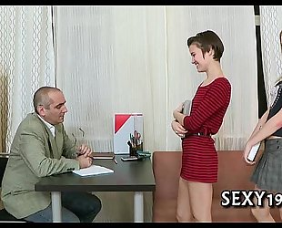 Fellatio for aged teacher