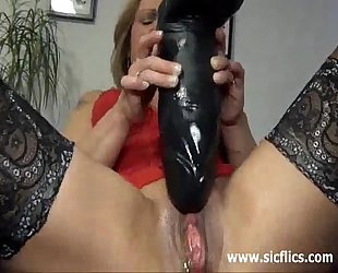 Gigantic marital-device fuck and squirting fisting orgasms