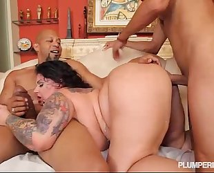 Bbw erika xtasy double permeated by two monster ramrods