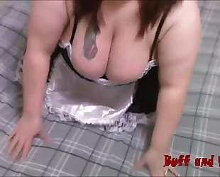 Lusty large scones bbw maid acquires creampie