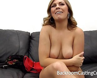 Tinder milf bitch assfuck painal & creampie on backroom casting daybed
