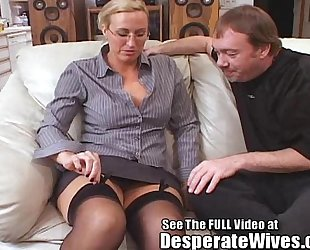 Tall cheating wife acquires screwed and spermed!
