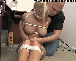 two breasty secretaries hogtied and gagged