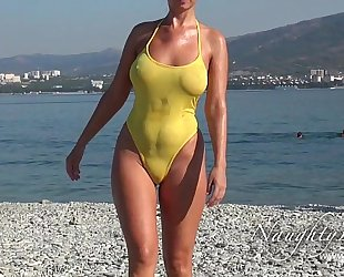Sheer when soaked swimwear and flashing
