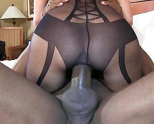 Bbc stretch out cookie cowgirl style super hot dark brown black cock sluts in dark underware
